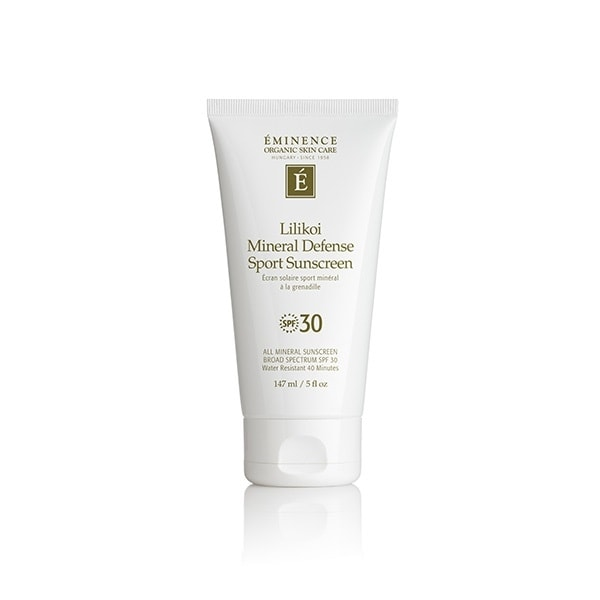 eminence organics lilikoi mineral defense sport sunscreen fpo web Lilikoi Mineral Defense Sport Sunscreen SPF30 Eminence Organic Skincare