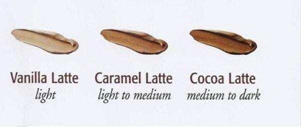 tinted moisturiser swatch 2 Caramel Latte Tinted Moisturiser SPF25 Eminence Organic Skincare